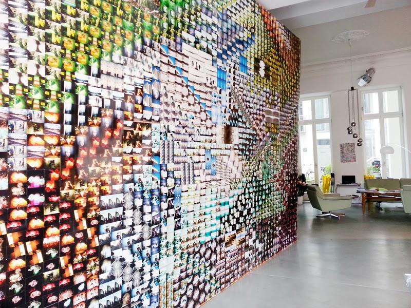 Wall of polaroids