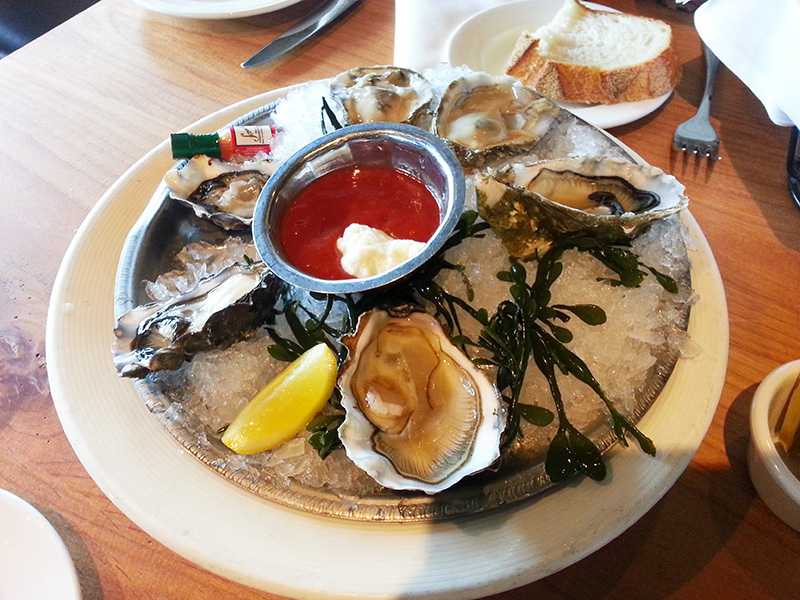 Scoma Oysters in San Francisco Fisherman's Wharf