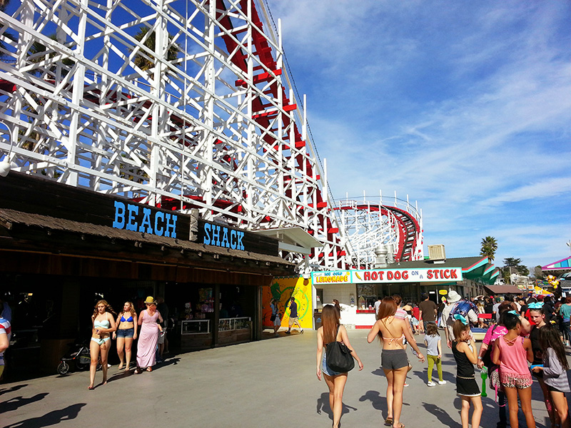 Amusement park on Santa Cruz Boardwalk