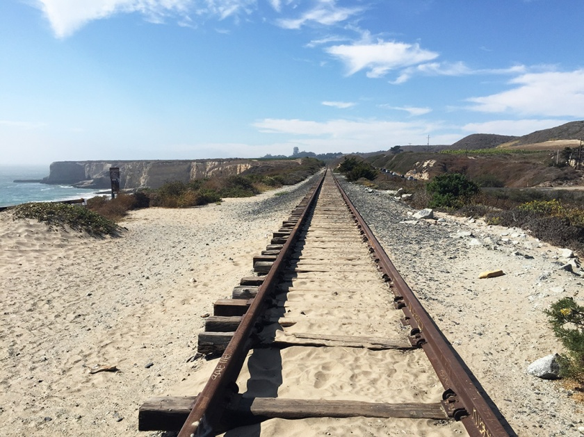 Railway along the coastal drive