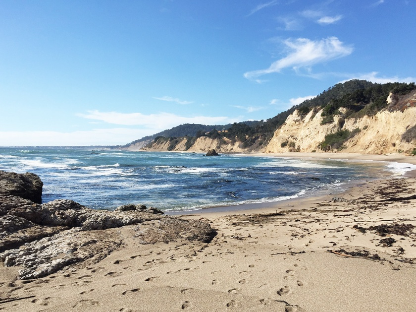 Beach along San Francisco coastal drive