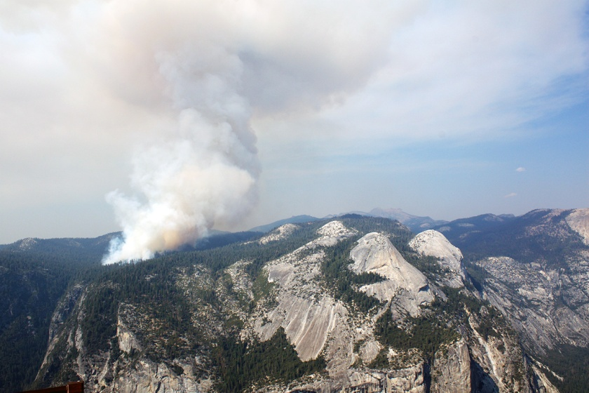 Forest fire in Yosemite
