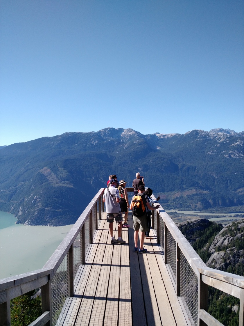 Chief Overlook Viewing Platform at the Sea-to-Sky Gondola